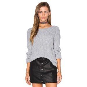 One Grey Day Grey Billie Chromium Sweater S NWT